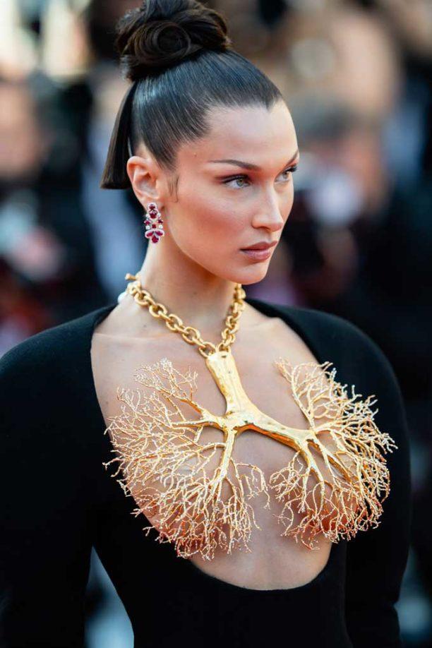 Bella Hadid Schiaparelli necklace Cannes
