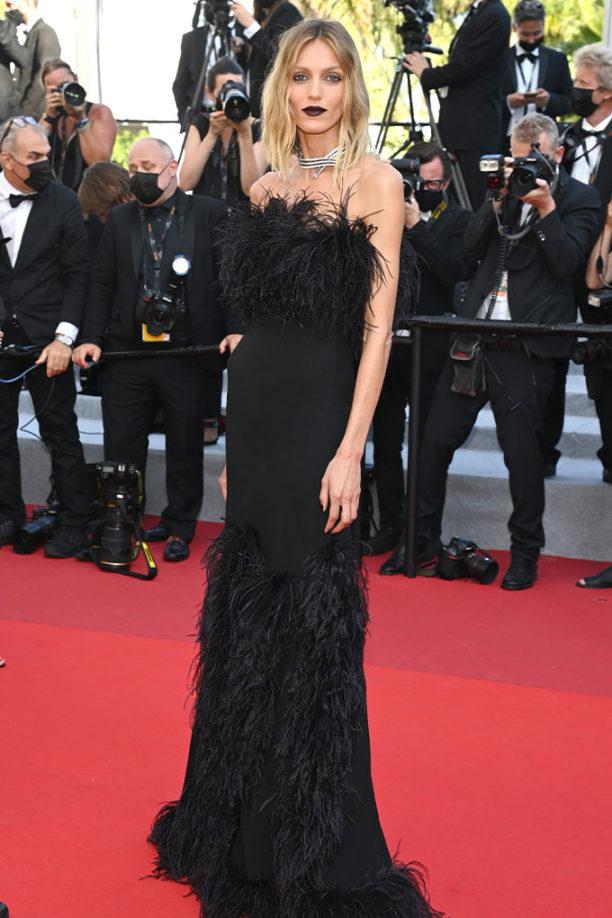 Vogue Singapore_Anja Rubik Cannes 2021 Saint Laurent