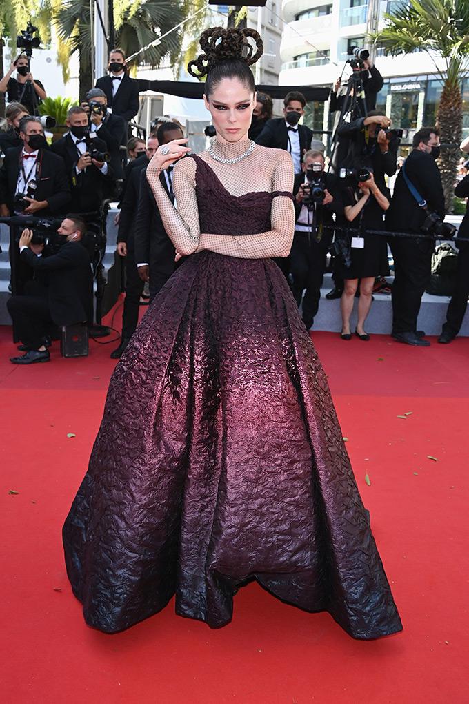 Coco Rocha in Christian Dior at Cannes Film Festival 2021