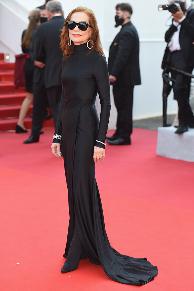 Isabelle Huppert in Balenciaga at Cannes Film Festival 2021