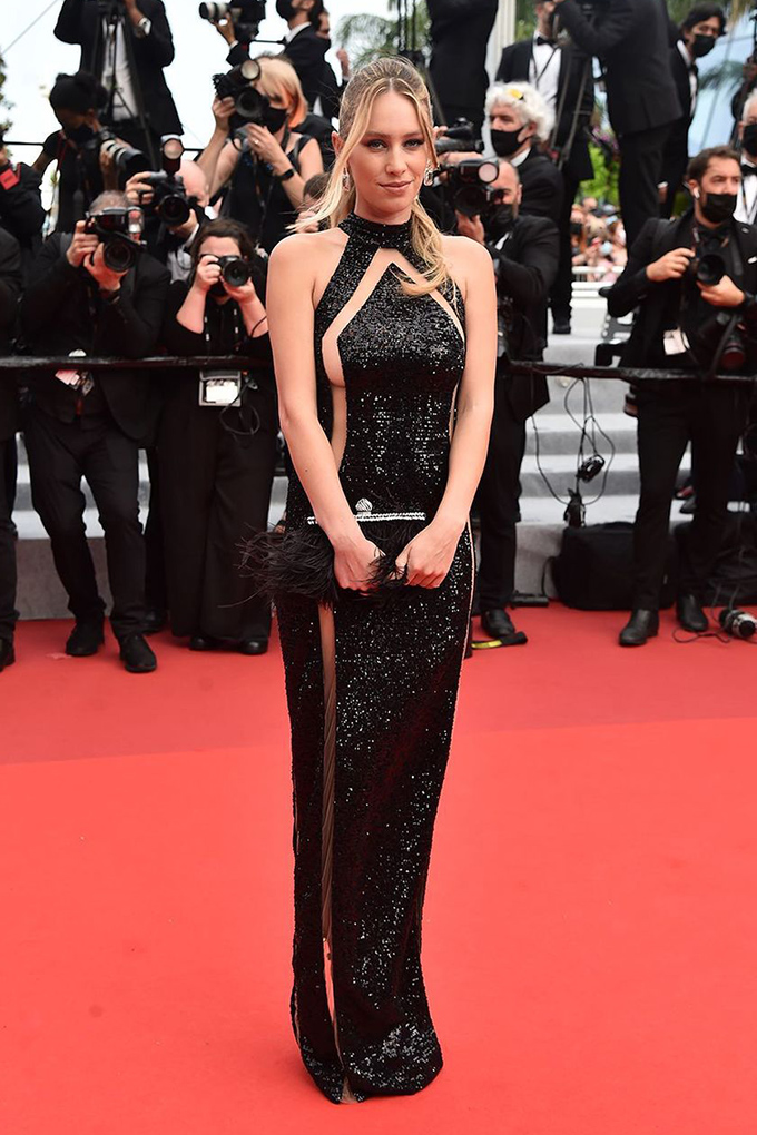 Dylan Penn in Balmain at Cannes Film Festival 2021