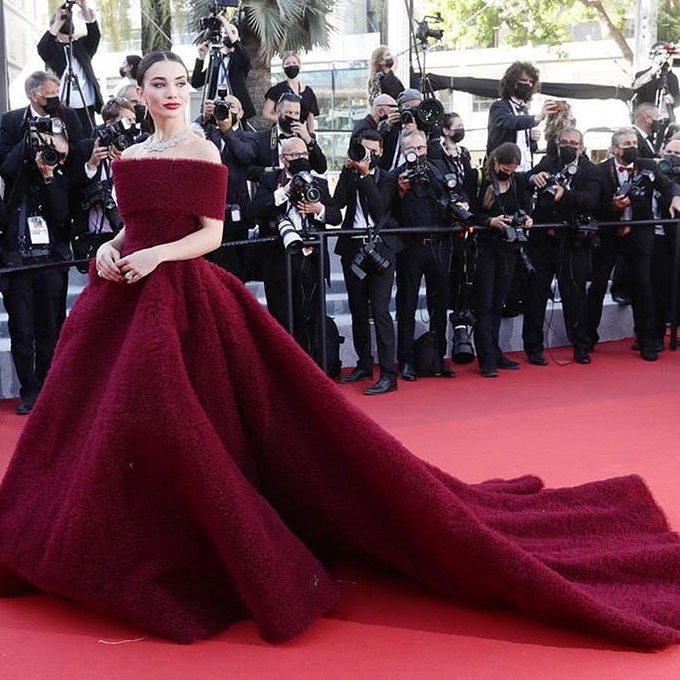 Amy Jackson in Atelier Zuhra at Cannes Film Festival 2021