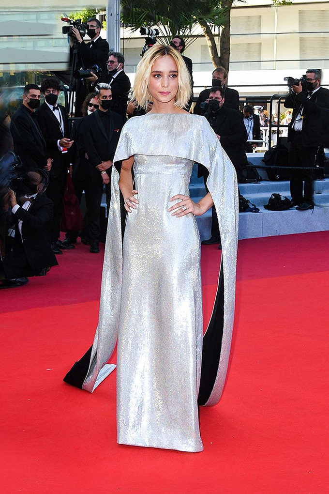 Denise Tantucci in Gucci at Cannes Film Festival 2021