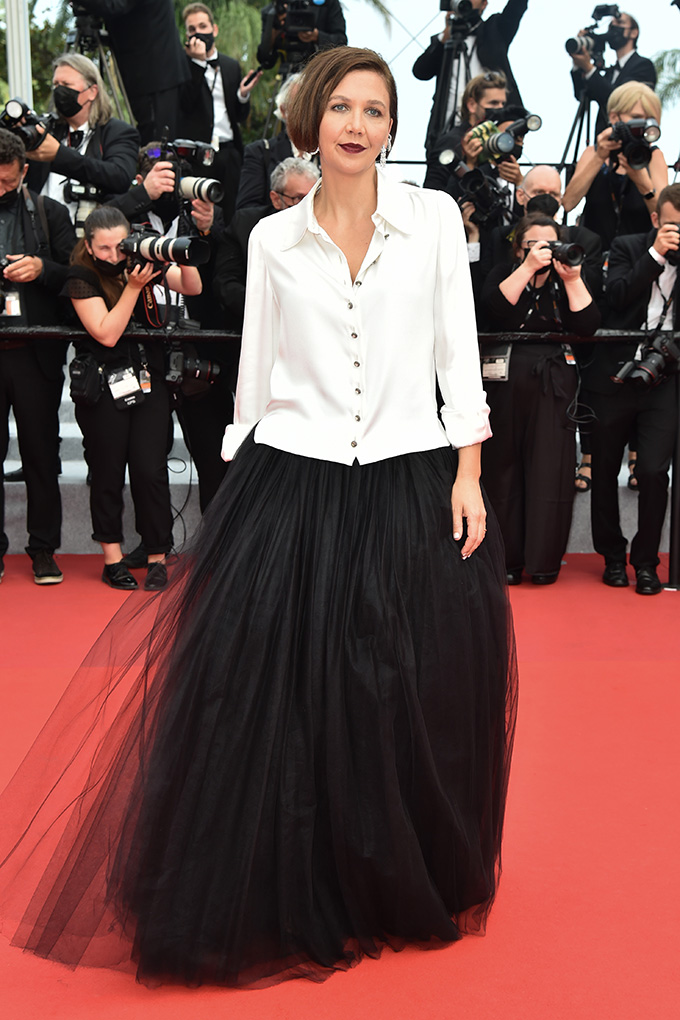 Maggie Gyllenhaal in Chanel at Cannes Film Festival 2021