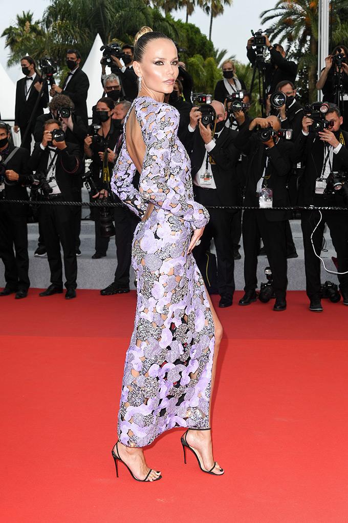 Natasha Poly in Valentino at Cannes Film Festival 2021