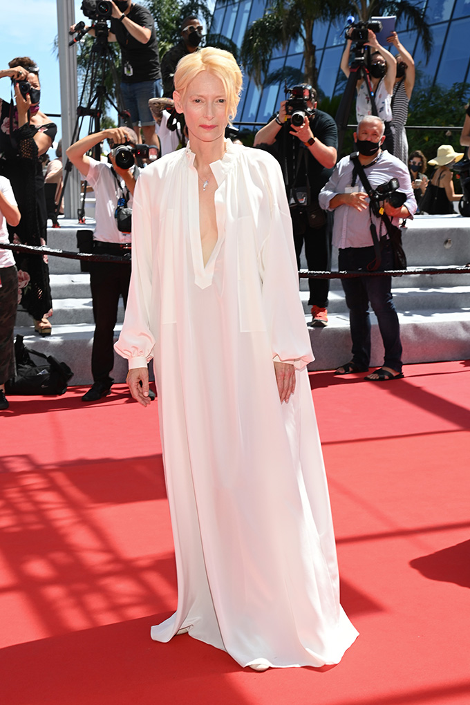 Tilda Swinton in Chanel at Cannes Film Festival 2021