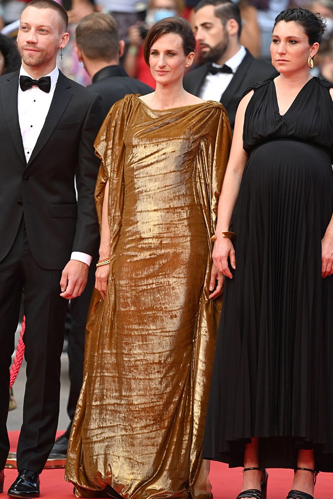 Camille Cottin (centre) in Dior at Cannes Film Festival 2021