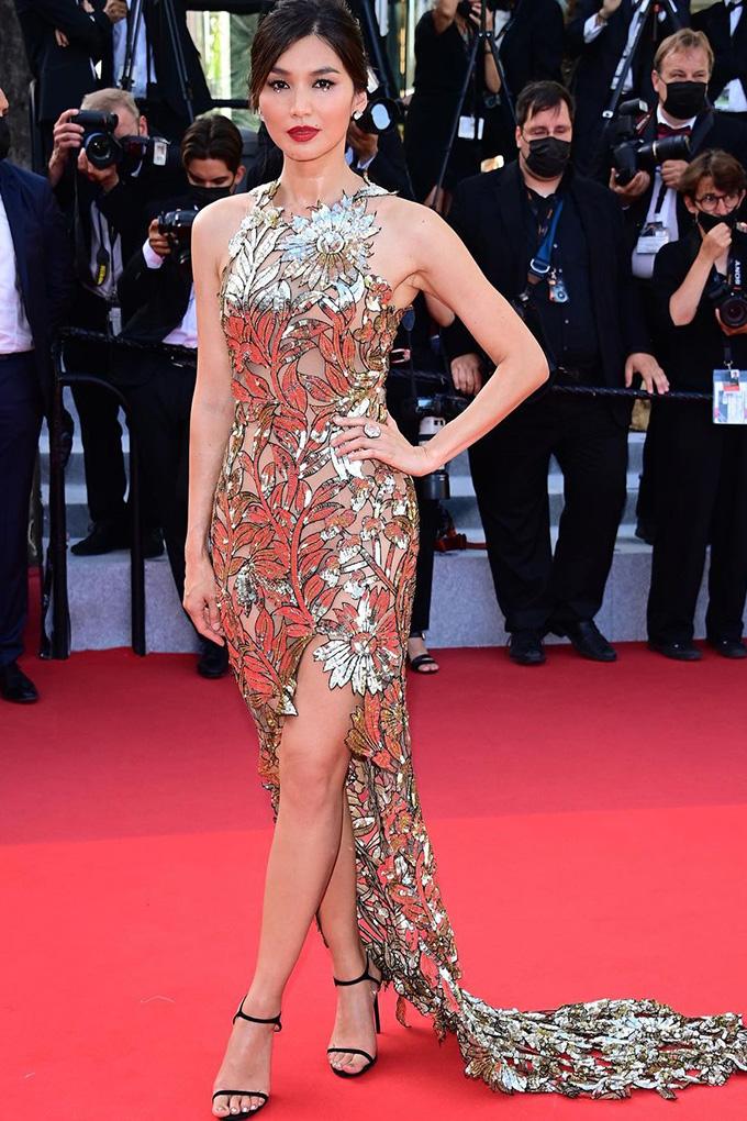 Gemma Chan in Oscar de la Renta at Cannes Film Festival 2021