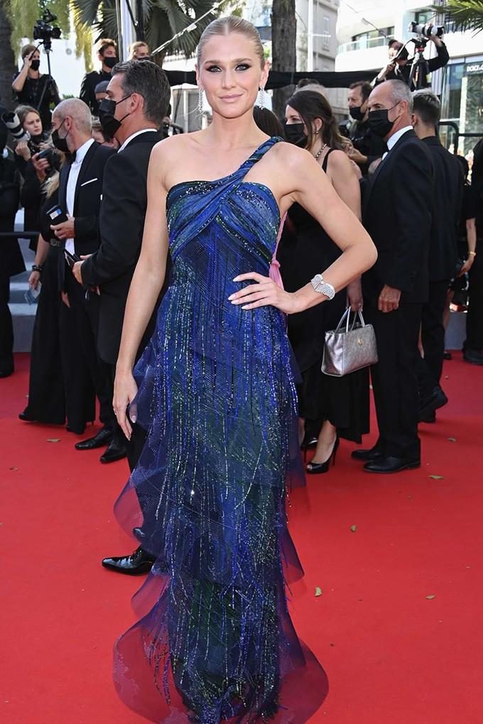Celine Locks in Giorgio Armani at Cannes Film Festival 2021