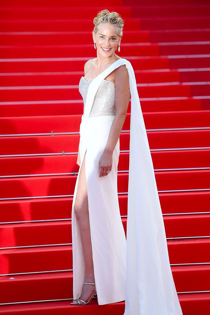 Sharon Stone in Dolce & Gabbana at Cannes Film Festival 2021