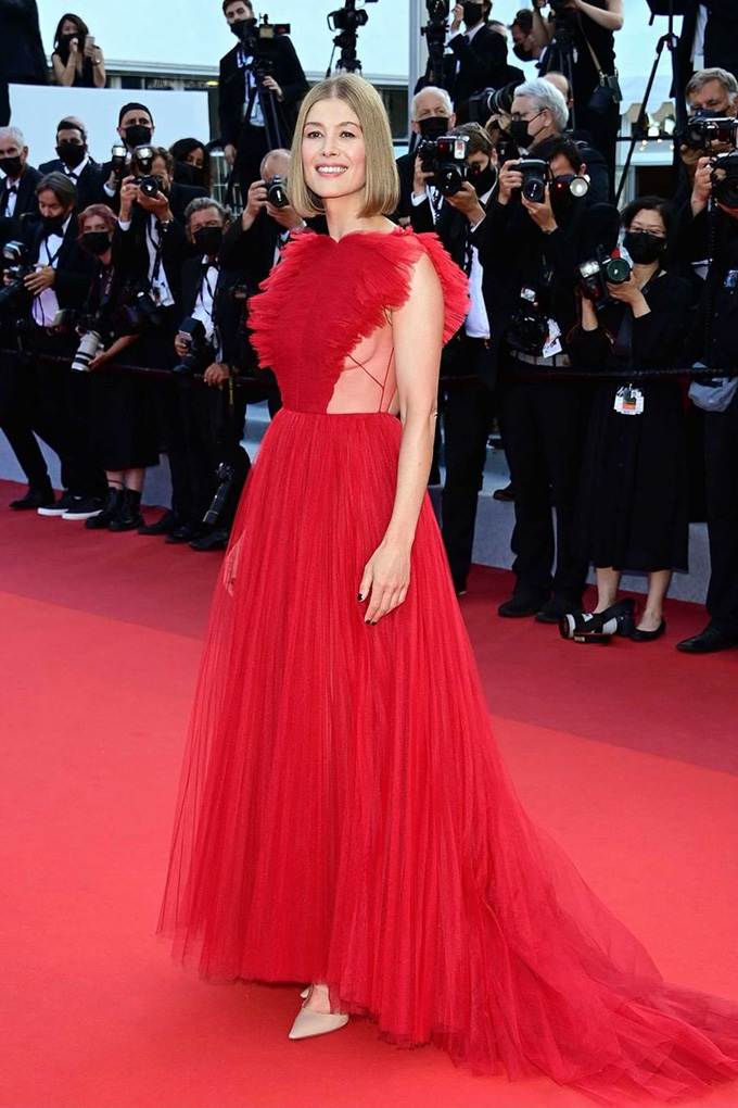 Rosamund Pike in Christian Dior at Cannes Film Festival 2021