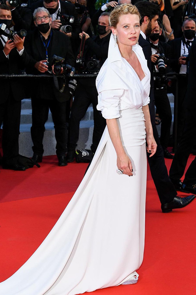 Melanie Thierry in Valentino at Cannes Film Festival 2021