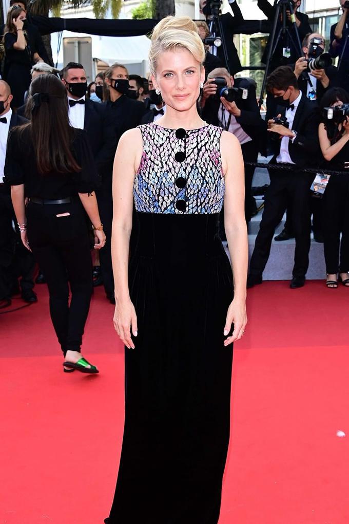 Melanie Laurent in Giorgio Armani at Cannes Film Festival 2021