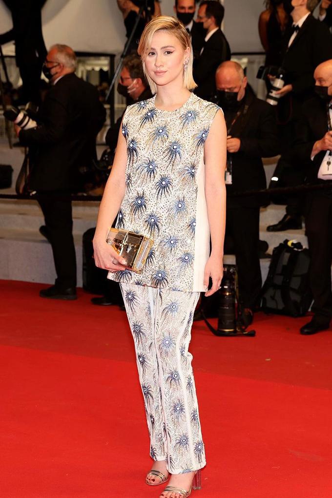 Maria Bakalova in Louis Vuitton at Cannes Film Festival 2021