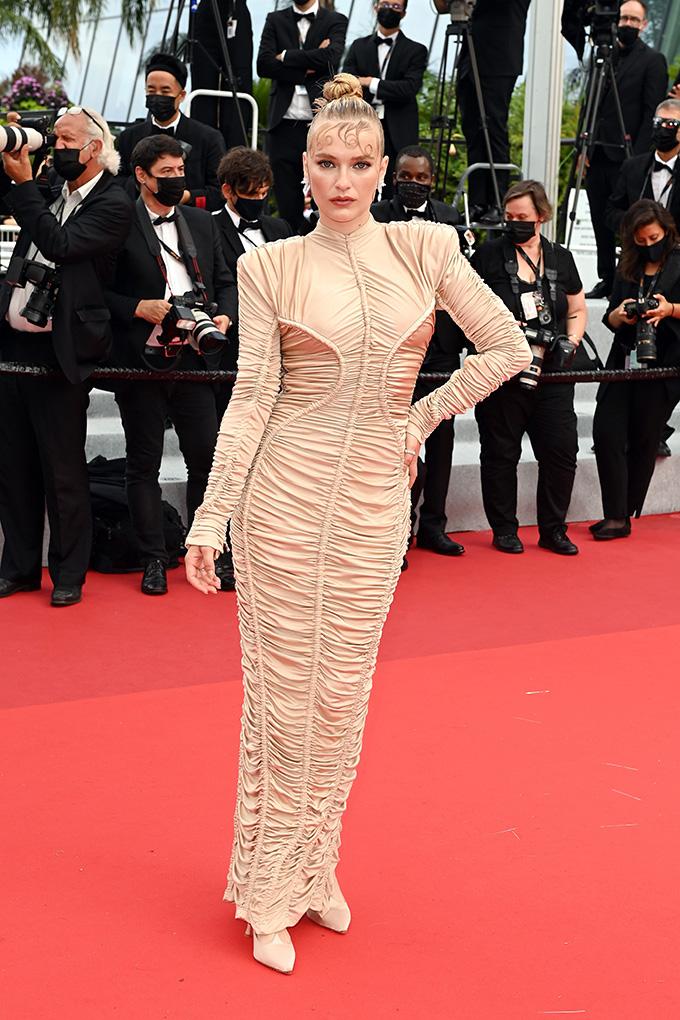Camille Razat in Balmain at Cannes Film Festival 2021