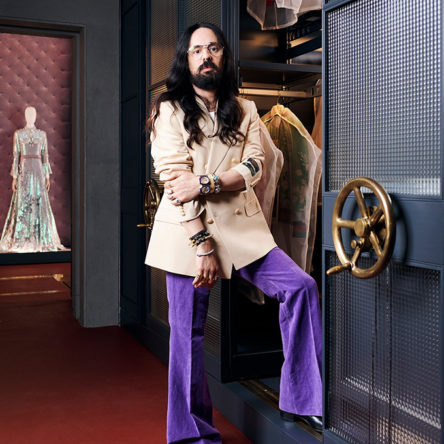 Alessandro Michele at the new Gucci archive in Florence