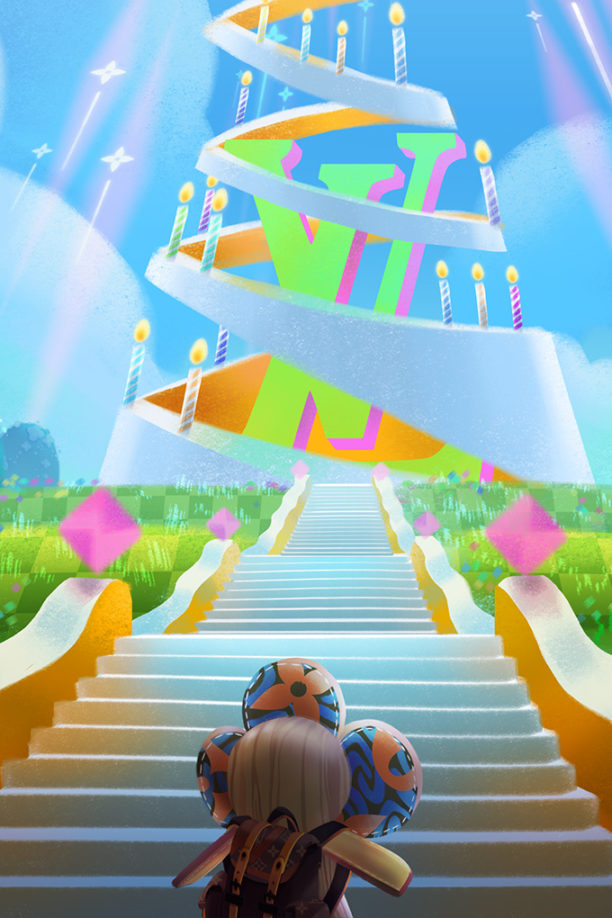 A still from Louis: The Game, which celebrates Louis Vuitton's 200th birthday