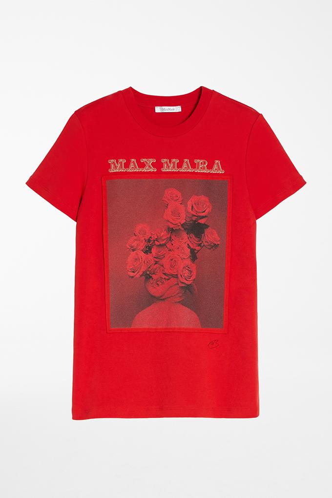 max mara red tee