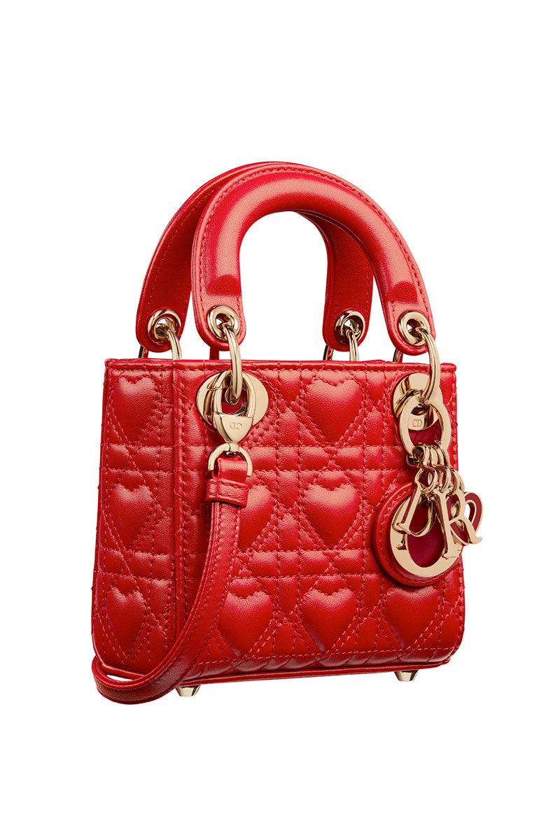 Chinese Valentine's Day Red Dior Dioramour Micro Lady Dior Bag