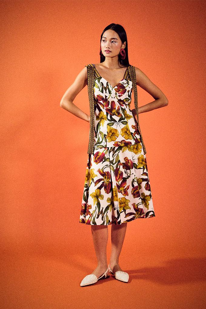 ong shunmugam cruise 2022 B8 top B9 skirt floral