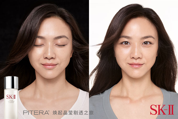 Tangwei in her 2021 iconic reshoot of her 2010 campaign