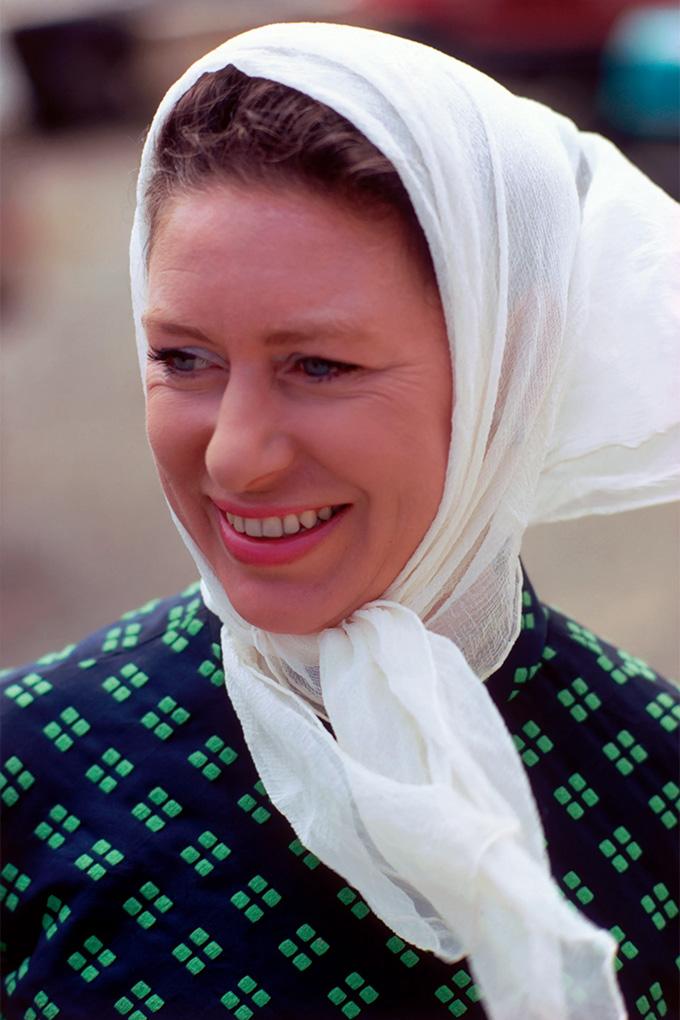 Princess Margaret white headscarf
