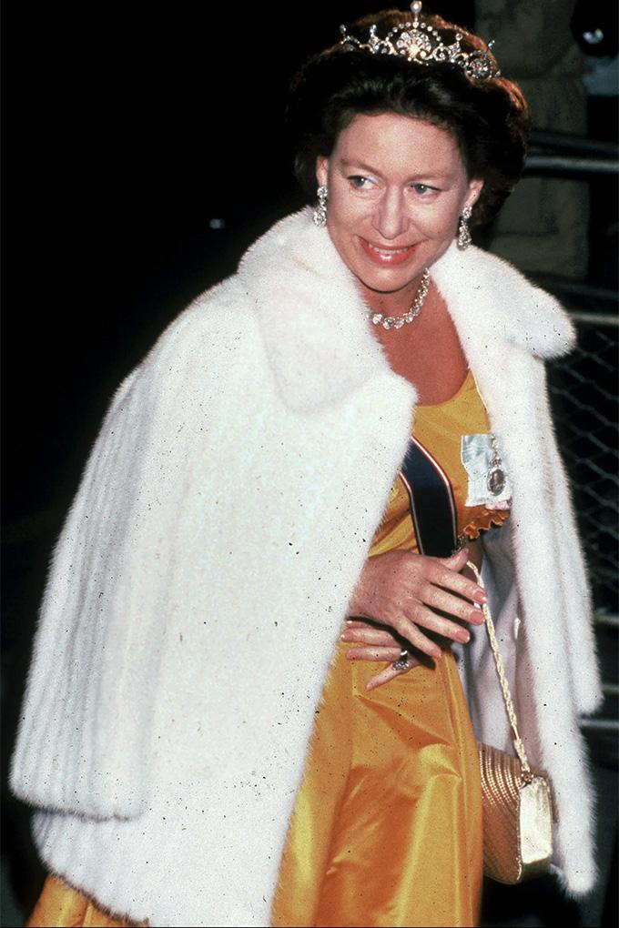 Princess Margaret yellow dress
