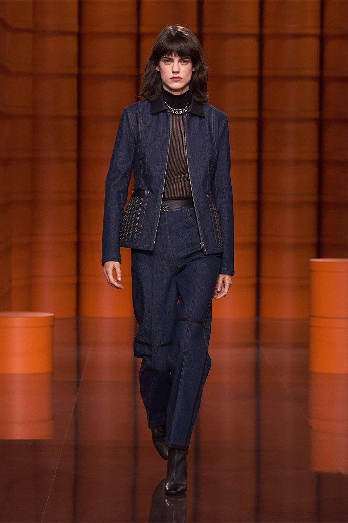 Hermes autumn/winter 2021 Denim Jacket + Pants