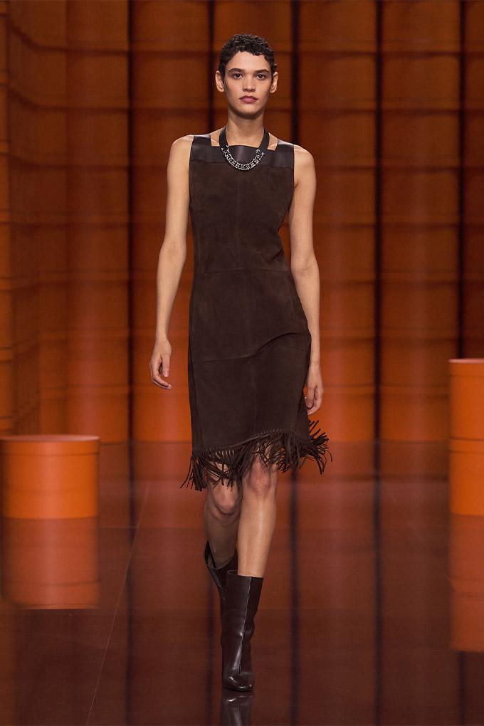 Hermes autumn/winter 2021 Brown Dress