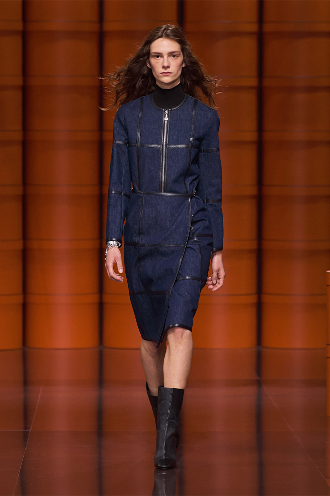 Hermes autumn/winter 2021 Denim Top + Skirt