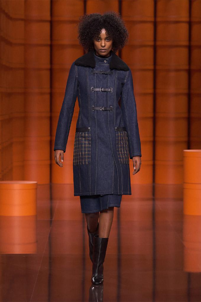 Hermes autumn/winter 2021 Denim Coat + Skirt