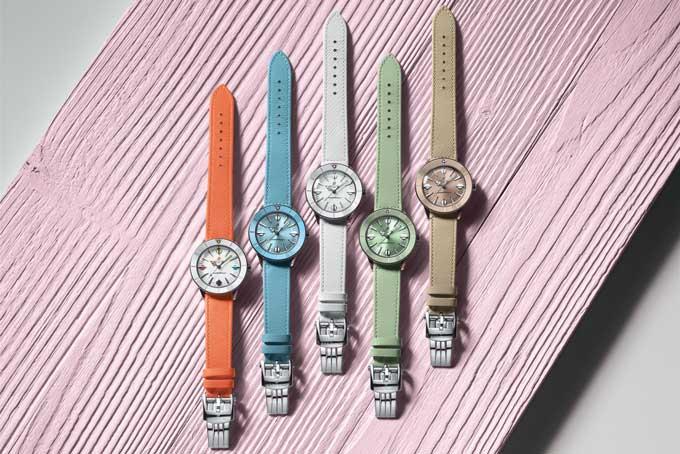 Pastel watch trend breitling