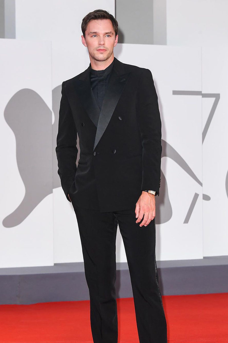 Nicholas Hoult in Giorgio Armani