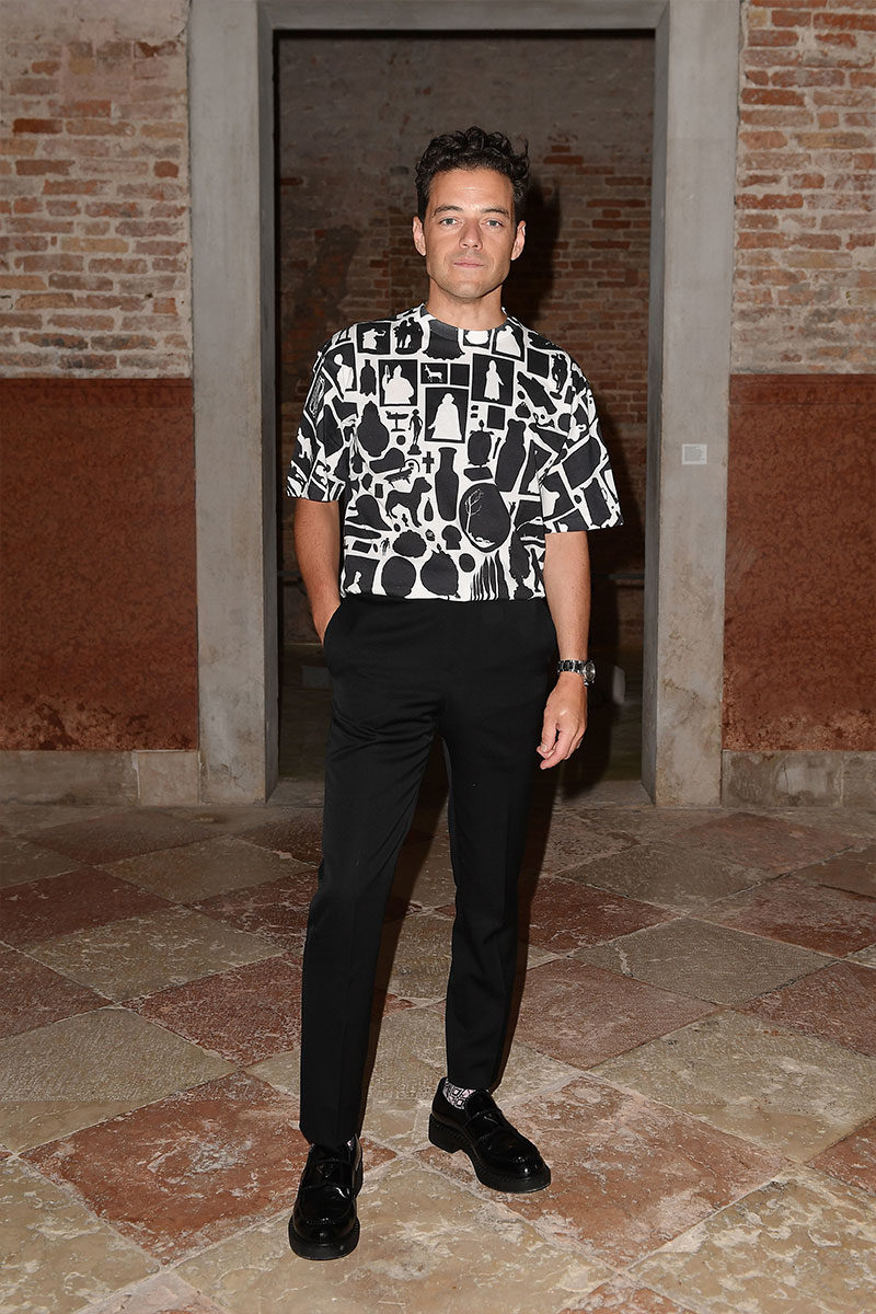 Rami Malek in Prada