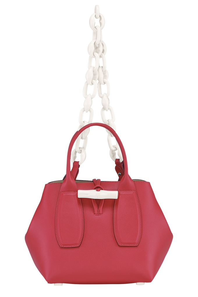 Roseau Chaine Top Handle Bag in Red Kiss_SGD1360