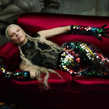Kristen McMenamy Gucci Aria Campaign