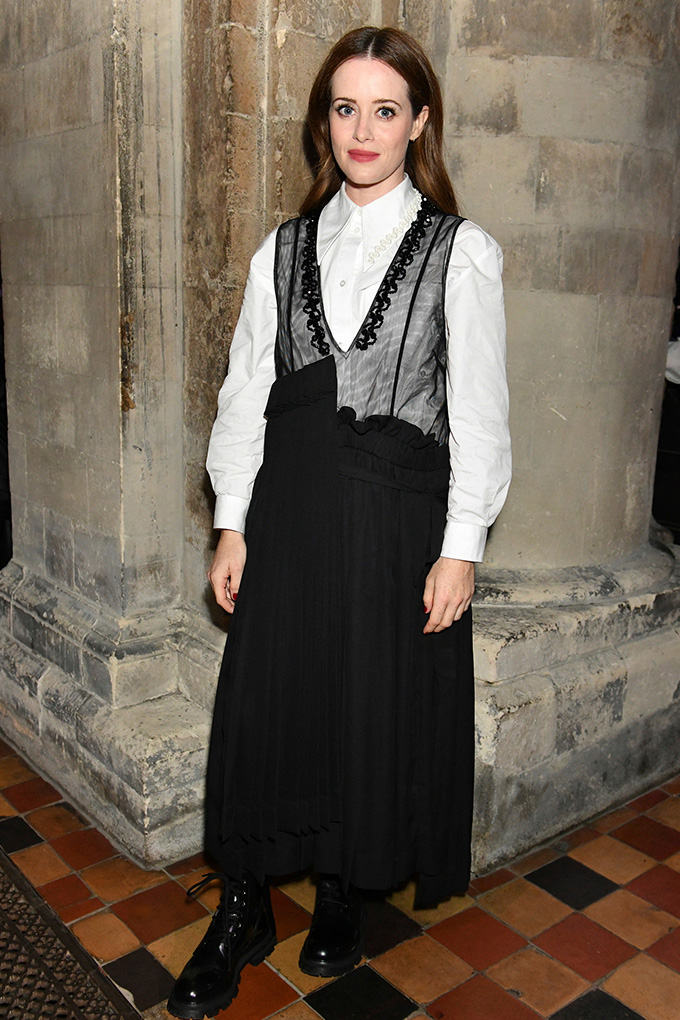 LFW-Claire-Foy