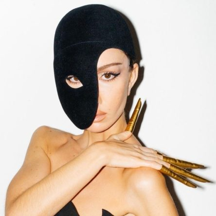 Vogue Singapore 2021 - schiaparelli paris fashion week spring summer 2022 runway beauty makeup gold nails