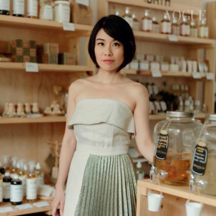 Vogue Singapore 2021 - Oasis Beauty Kitchen Hildra Gwee - beauty eco-friendly vegan organic recycle -
